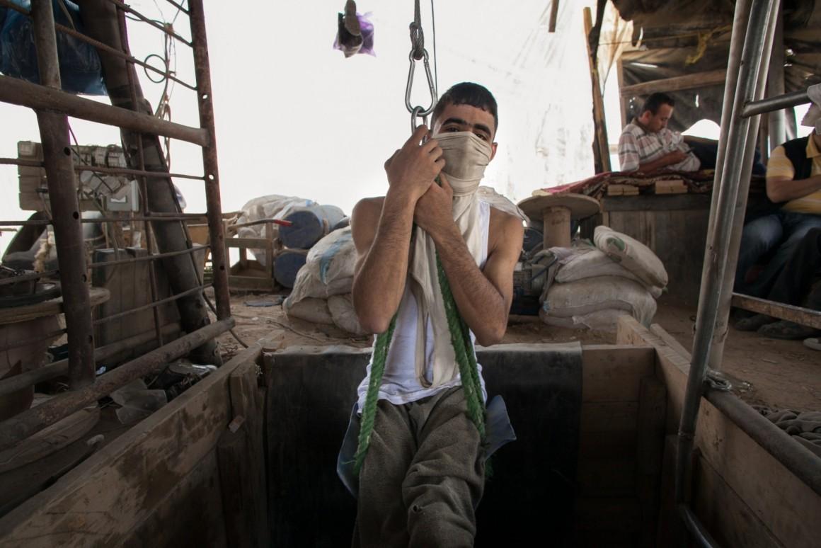 نفق بين قطاع غزة ومصر، قبل العام 2013. تصوير: إيمان محمد
