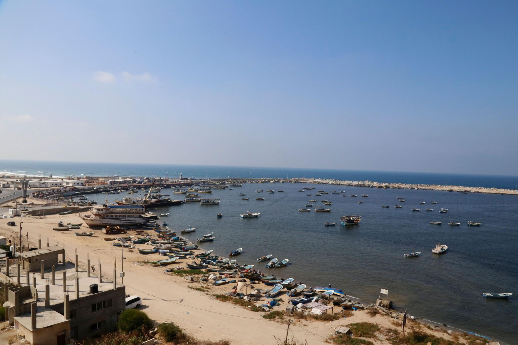 """ميناء غزة. تصوير: جمعية """"چيشاه-مسلك"""""""
